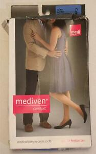 Mediven Women's High-Calf Medical Compression Socks NA8 Natural Size III NWT