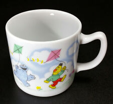 Sesame Street Child's Porcelain Mug Flying a Kite 8000 by Newcor Nice Vtg Cup