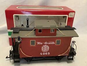 LGB Lehmann G Scale 4065 Red Rio Grande Caboose Train Car w/ Original Box