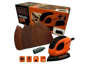 NEW Black and Decker Mouse Detail Palm Sander Ergonomic Grip & 6 Sanding Sheets