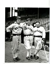PHOTO OF 1933 CHICAGO WHITE SOX JIMMY DYKES, MULE HAAS & HOFer AL SIMMONS