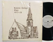 Kenyon College Choir 1977-78 Vinyl LP VG+/EX Vladimir Morosan