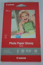 """NEW! CANON Glossy Photo Papers 50 Sheets GP-701 Ink Jet Printer Paper 4""""x 6"""""""