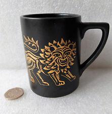 Portmeirion GOLD LION Coffee Cup Susan Williams Ellis CERAMICA NERO 1960 S