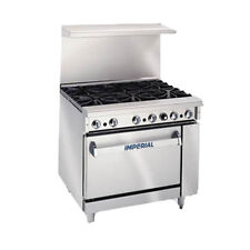 """Imperial IR-6-C Six Burner 36"""" Gas Restaurant Range with Convection Oven"""