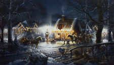 "Sweet Memories By Terry Redlin Christmas Lights Print  32"" x 18.5"""