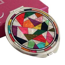 Kosmetik-Spiegel Taschenspiegel Rund Neu Edel Luxus Perlmutt