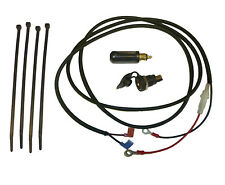 "12V Accessory Socket (DIN/Hella type) with 2m (79"") Loom + Plug (Glass Fuse)"