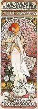Repro Art Nouveau ' La Dame aux Camelias' by Alphonse Mucha