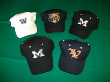 NEW Sports Caps Hats Collection of Five NCAA Hats  -  Original Tags