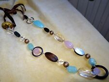Marks and Spencer mixed material necklace, mostly large lucite beads