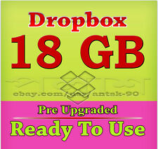 Dropbox 18GB Pre Upgraded Account - Ready To Use