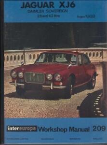 JAGUAR XJ6 2.8 & 4.2,DAIMLER SOVEREIGN,SERIES 1,WORKSHOP MANUAL 1968-1973