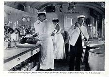 1.WK.Die Küche des neuen Lazarettzuges Viktoria Luise Westfront Rotes Kreuz1915