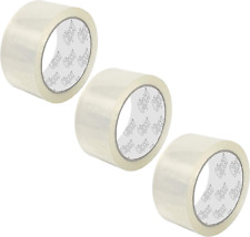 Clipco Premium Packing Tape Heavy Duty Clear 3 Pack