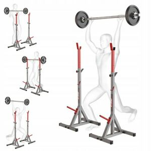 K-Sport Olympic Squat Rack Power Stands Barbell Adjustable Press Weight Home