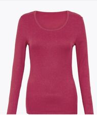 Marks And Spencer Heatgen Plus Thermal Long Sleeve Top Size 18 Magenta
