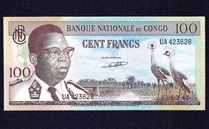 Congo 100 Francs 1962  P-6  EF