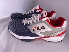 Fila Mens Axilus Energized Tennis Shoe Red/White/Blue USA 8.5