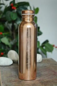 900 ML Schlicht Kupfer Wasserflasche Ayurveda Boden Leck Beweis Kappe und Gratis