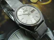 VINTAGE SEIKO 5 ACTUS AUTOMATIC 7019-8010 GENTS WITH MESH BAND.