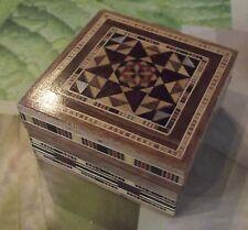 Boite Bijoux Pilules Mosaique Bois