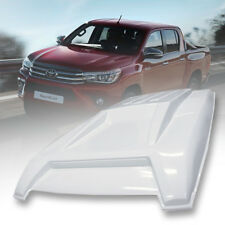 GLOSS WHITE SCOOP BONNET HOOD COVER FOR TOYOTA HILUX REVO M70 M80 ROCCO 15-2020
