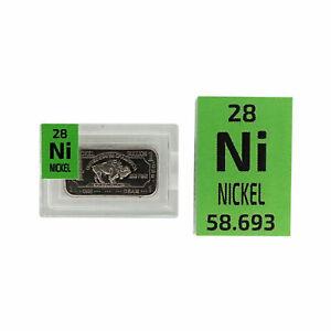 WHOLESALE 12 x Buffalo NICKEL METAL INGOT .999 pure Periodic Element tile