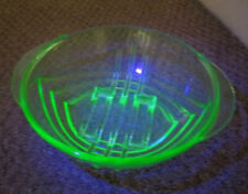 Depression Glass Bowl Art Deco Date-Lined Glass