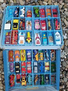 Matchbox Lesney Cars Corgi Hot Wheels vintage toy lot case 60s 70s 80s