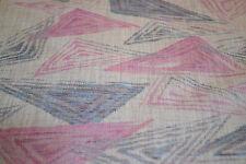 Japanese Wool/Silk Pink and Grey Geometric 812