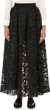 [Maje] Jared Lace Floral Embroidered Perforated Maxi Skirt Black Sz 3 $470 / NWT