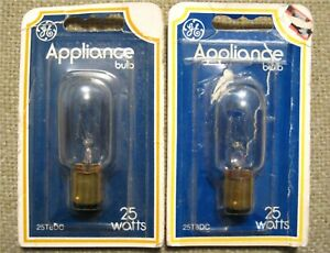 Unused GE APPLIANCE BULBS 25 Watts 25T8DC Sewing Machine & Kitchen Appliances