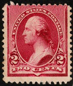 US #219D 1890 2c Washington Lake Mint NG H CV $160. KP-092