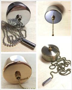 Light Pull Chain Switch Chrome Cover for Bathroom Ceiling Fan light +160cm Chain