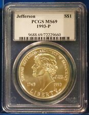 PCGS MS-69 1993-P Silver Jefferson Commemorative Dollar