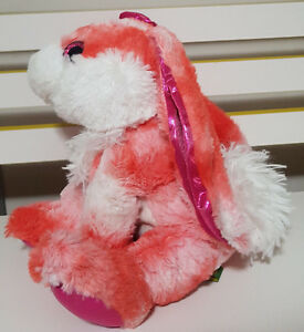 WILD REPUBLIC PINK BUNNY RABBIT PLUSH TOY! SOFT TOY ABOUT 22CM SEATED KIDS TOY!