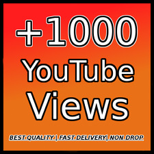 1000 YOUTUBE VIEWS |FAST DELIVERY| |HIGH QUALITY| |NON DROP|