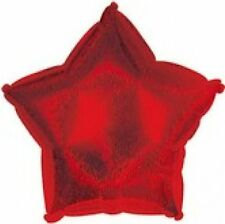 """18"""" Dazzeloon Red Star Shape Balloon Wedding Baby Shower Birthday Holographic"""