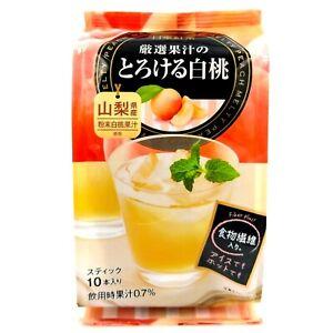 Nittoh Melty Peach instant tea Yamagata white peach x 1 bag (10 pcs) exp 11/2022