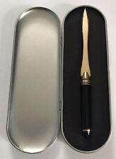 Metal Body Pen Style Gold Brass Letter Opener - New & Boxed gift set Desk Xmas