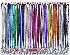 10 pcs Mixed lot Rhinestone Bling Crystal Lanyard ID Badge Wholesale Bulk USA