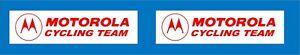 Motorola top tube decals x 2