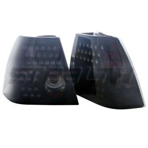 For 1999-2005 Volkswagen Jetta LED Taillight Black Housing Smoke Lens PAIR