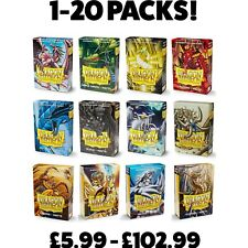More details for dragon shield small card sleeves matte japanese size yugioh sleeves 1 -20 packs!