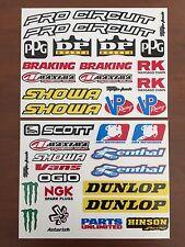 Motocross Sponsor Decals Stickers ★ 33 PACK ★ Pro Circuit Fender KX 250  CRF RMZ
