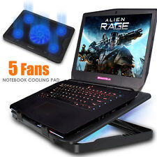13-17 Inch Gaming Laptop Cooling Stand Powerful Pad 5 Fans at 1200RPM Adjus