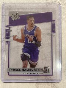 2020-21 Clearly Donruss Tyrese Haliburton RC Rated Rookie #75 Sacramento Kings