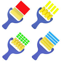 4pcs sponge brush paint brushplastic handle children  painting graffiti toy A#S