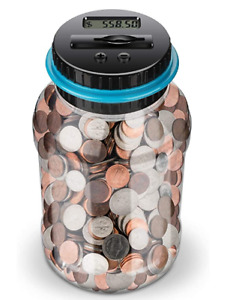 Digital Coin Money Counting Jar Savings Piggy Bank Money Vault